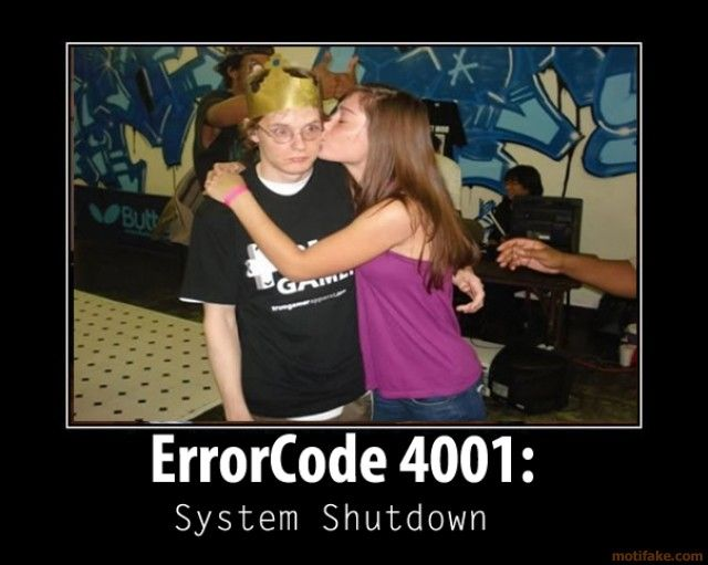 Funny Porn Demotivational - funny geek | ... geek 4001 major error overload geek porn do you want