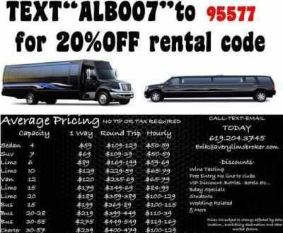 Averylimobroker.com $25OFF rate sheet on all quotes today ...