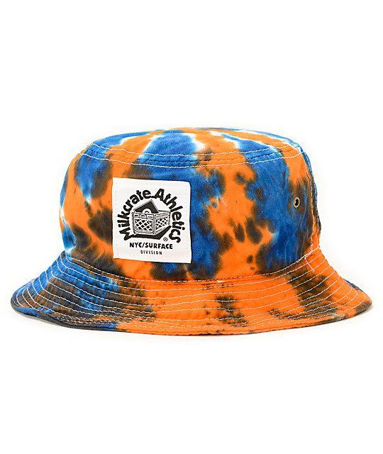 ... discount milkcrate nyc tie dye bucket hat at zumiez pdp 30e7e 40aa4  wholesale pink dolphin wave snapback ... bdbcb546c921