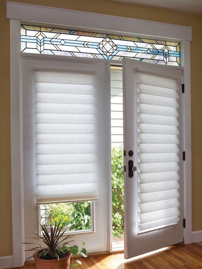 french door window treatments door