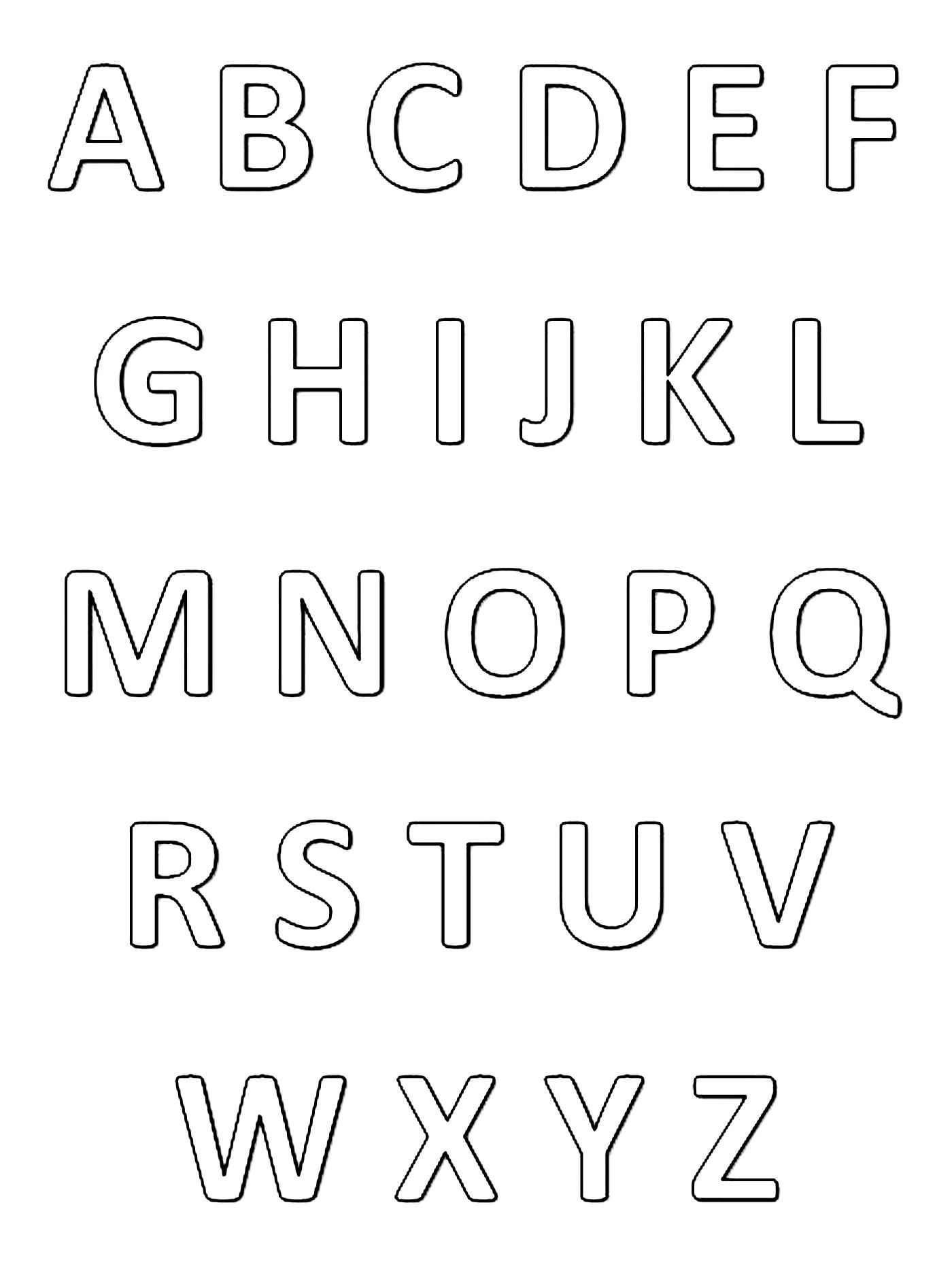 Very Simple Alphabet Worksheet To Print Amp Color From The