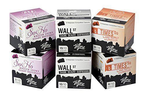 60 HiLine Coffee Variety Capsules: Delicious Alternative to Nespresso Capsules, Nespresso Pods, Nespresso Coffee - http://hotcoffeepods.com/60-hiline-coffee-variety-capsules-delicious-alternative-to-nespresso-capsules-nespresso-pods-nespresso-coffee/