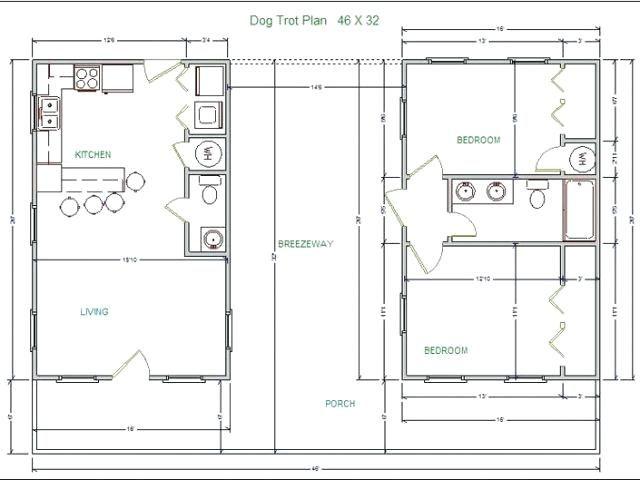 Dogtrot Floor Plans