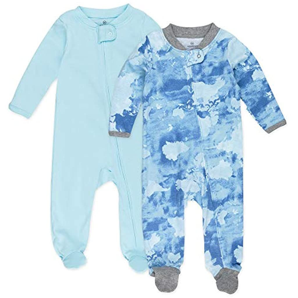HonestBaby Baby Organic Cotton Footed Sleep /& Play Pajamas