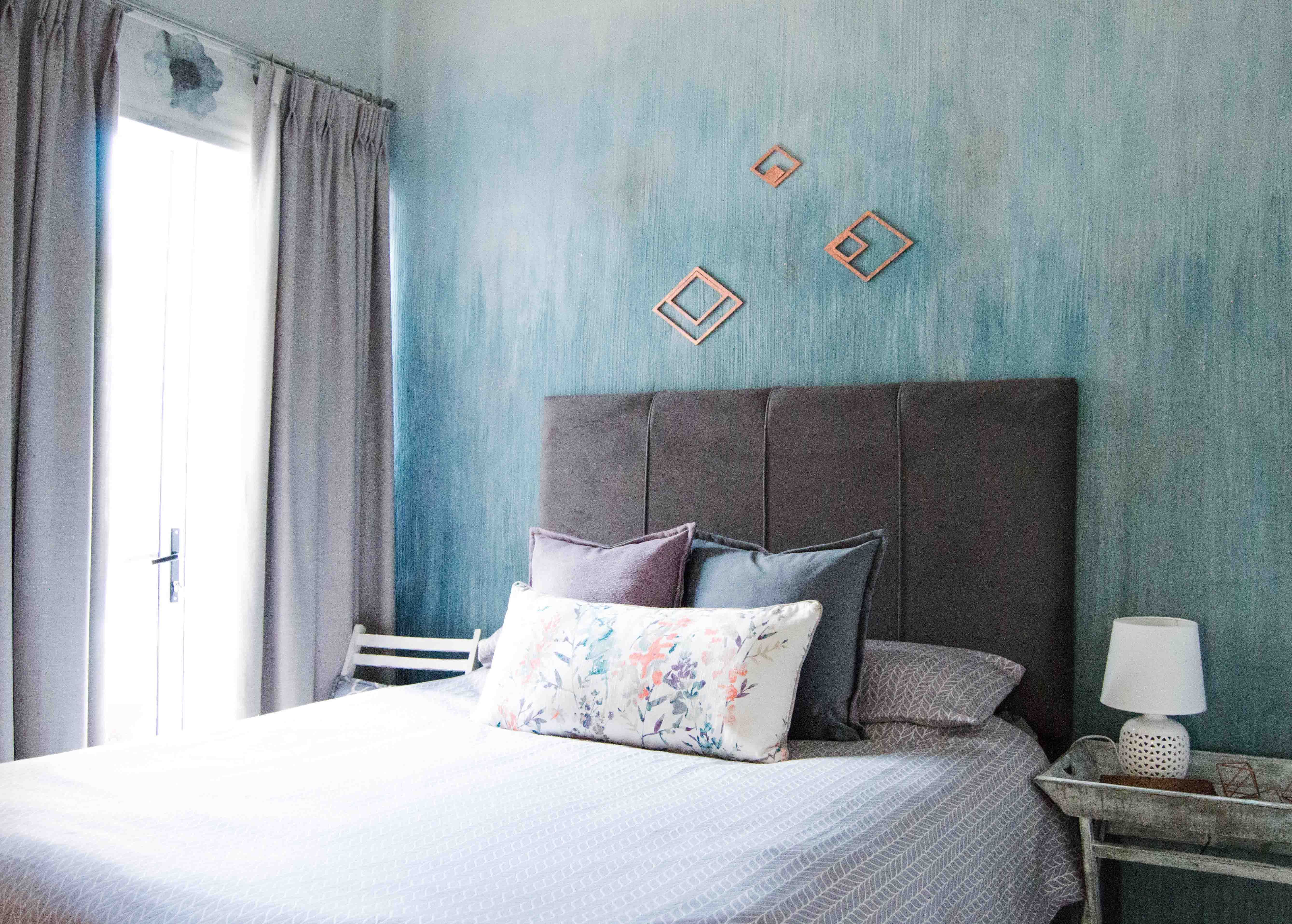 Serene Bedroom Teal Blue Green Grey White Rose Copper Violet Paint
