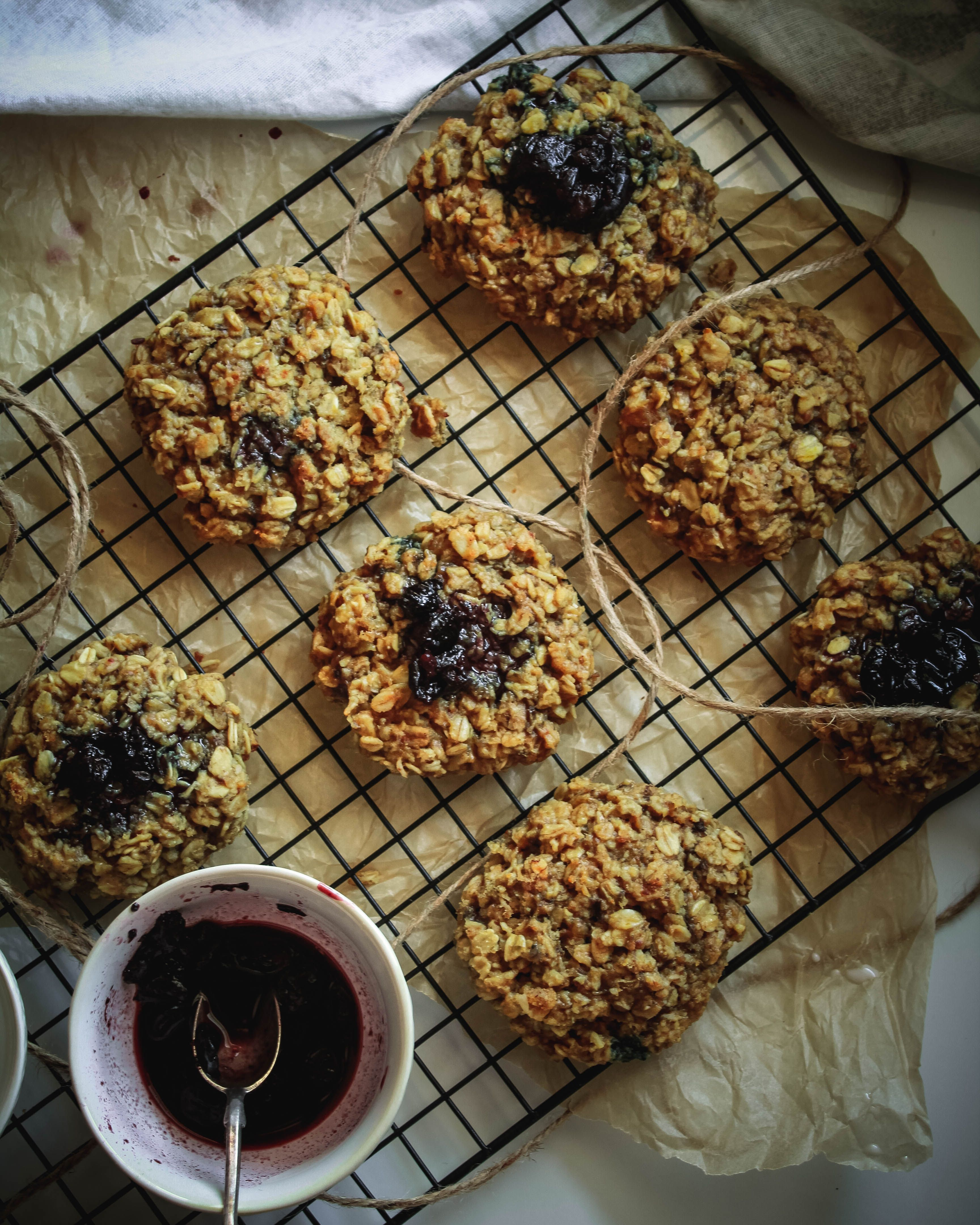 Peanut Butter Jelly Breakfast Cookies