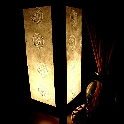 White Silver Spiral Handmade Asian Oriental Wood Light Night Lamp Shade Table Desk Art Gift Home Vintage Bedroom Bedside Garden Living Room; Free Adapter; a Us 2 Pin Plug #528 Apple-Heart http://www.amazon.com/dp/B010X4T35A/ref=cm_sw_r_pi_dp_Bh.owb14EMRKC