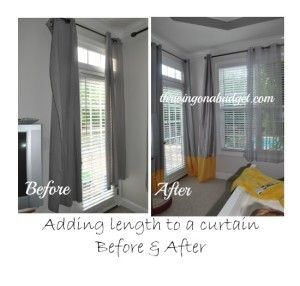 My Bedroom Redo Modern Wall Stencil Cheap Curtains Too Short