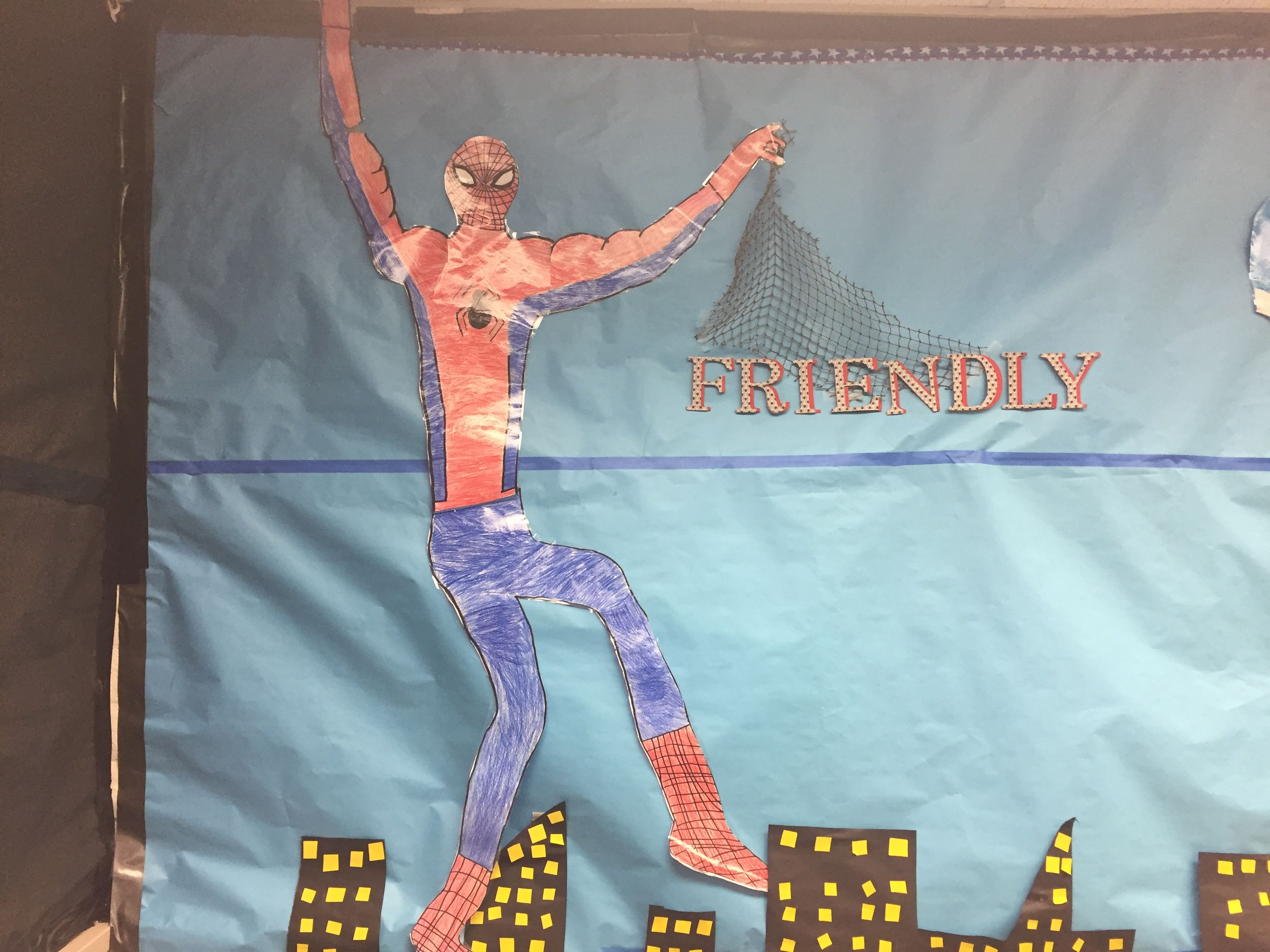 Spider Man Promoting Our Pillar Of Being Friendly In The