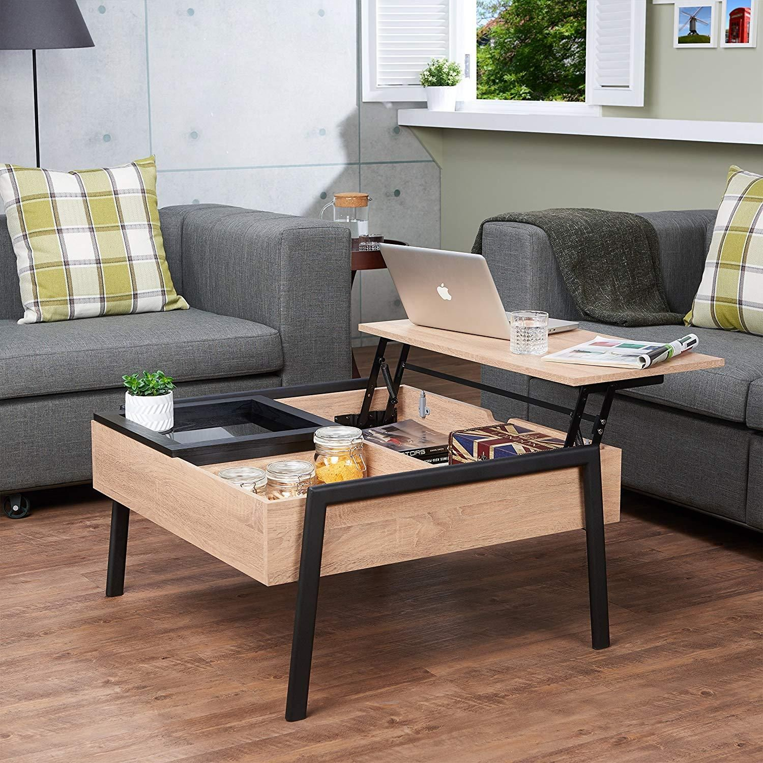 Acme 831885 Fakhanu Natural Wood Finish Lift Top Coffee Table Coffee Table Simple Coffee Table Coffee Table With Storage [ 1500 x 1500 Pixel ]