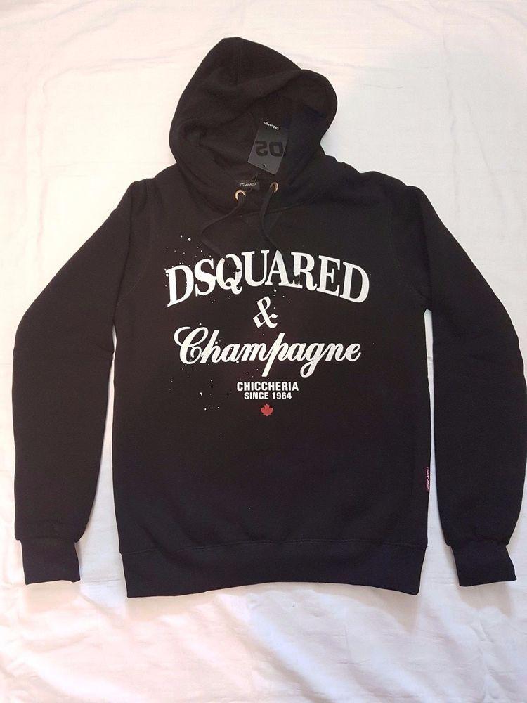 Neu DSQUARED and Champagne Hoodie Sweater Grau Gr.M   eBay   Mode ... 7d80020e2c
