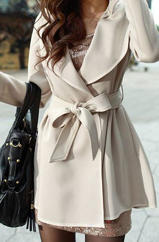 bdff8832254d Cream trench coat   Style   Pinterest   Veste, Mode and Vetements