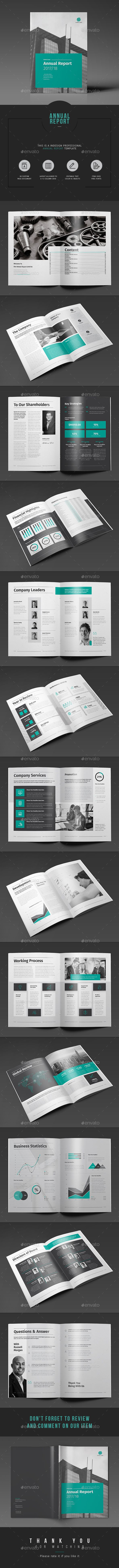 Annual Report | Annual reports, Grid layouts and Template