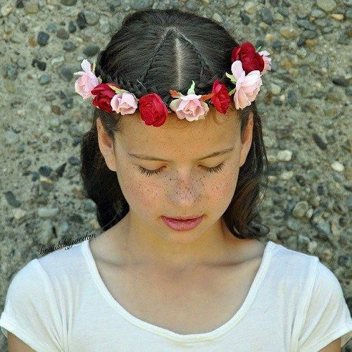 Floral Braided Crown Hairstyle For Girls #teenagegirlhairstyles | Braided crown hairstyles, Girl ...