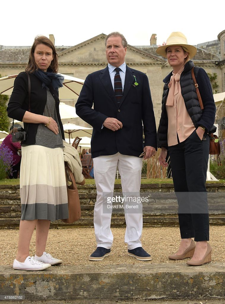 Sarah Chatto, David Linley and Serena Armstrong Jones attend the Carter Style & Luxury Lunch at the Goodwood Festival of Speed on June 28, 2015 in Chichester, England.