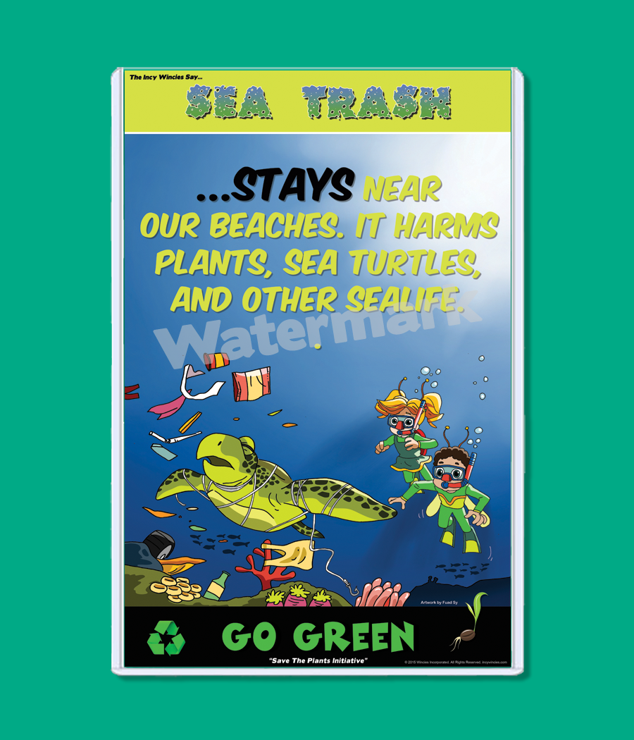 Kids Environmental Posters Sea Trash   Kids Games, Books, Posters ...