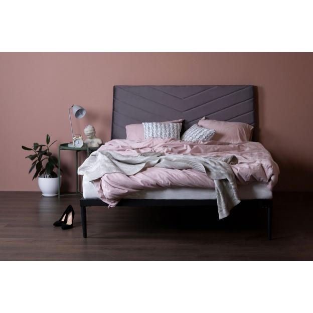 Lozko Medelin 140x200 Szare Welur Furniture Home Decor Bed