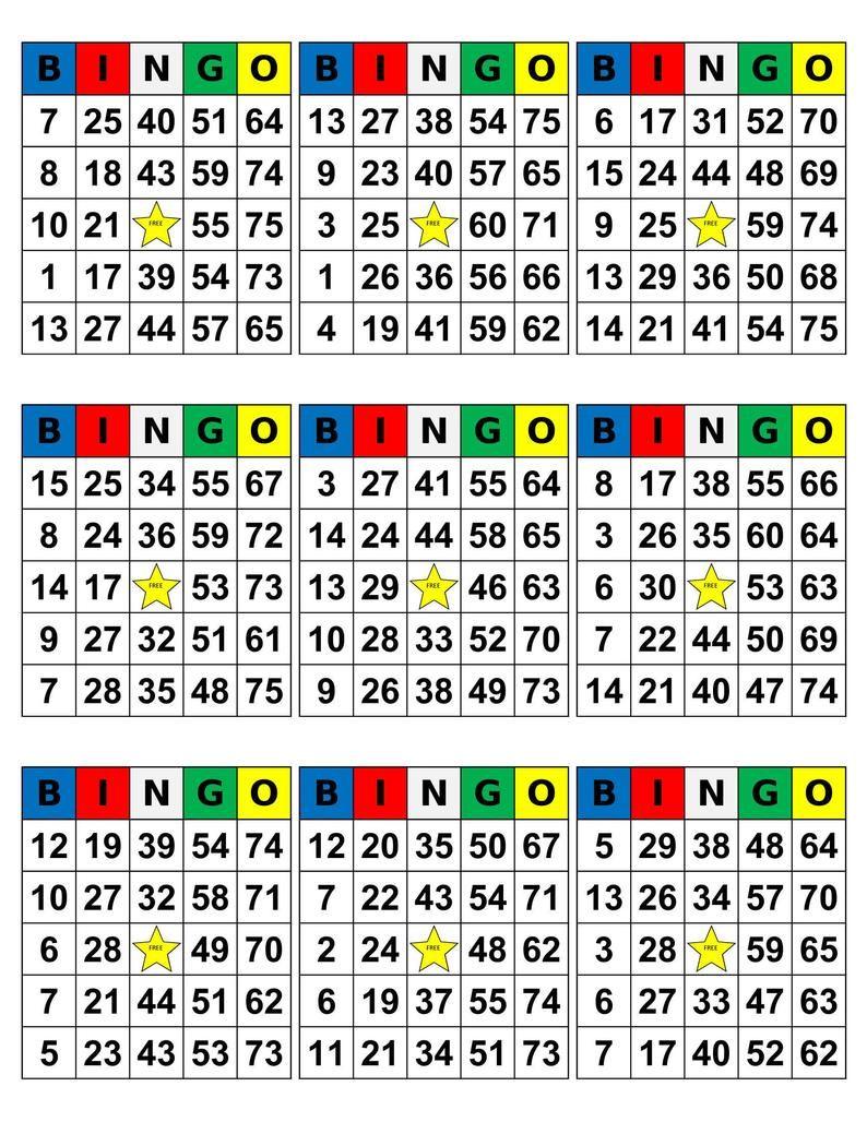 Bingo Cards 1008 Cards 9 Per Page Pdf Download Etsy In 2021 Bingo Cards Custom Bingo Cards Bingo Patterns