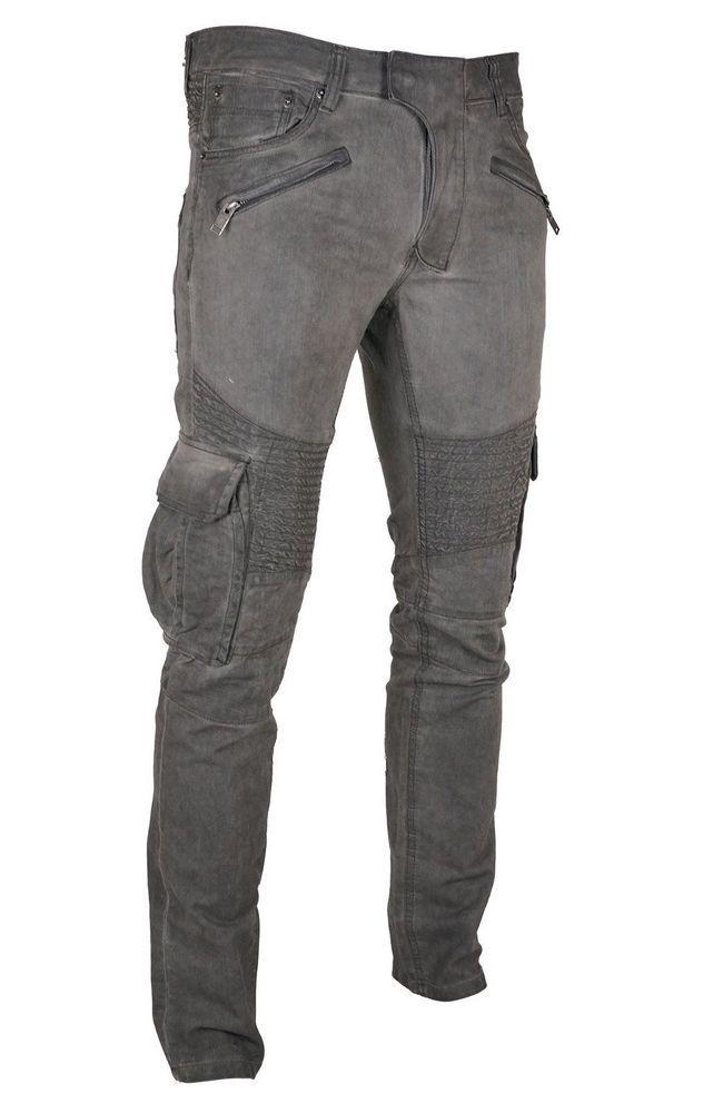 Copper Rivet Men s Skinny Black Dirt Oil Tint Biker Pants Jeans Sizes 32 -  42  CopperRivet  CargoSkinny d4a7a4f52d2f