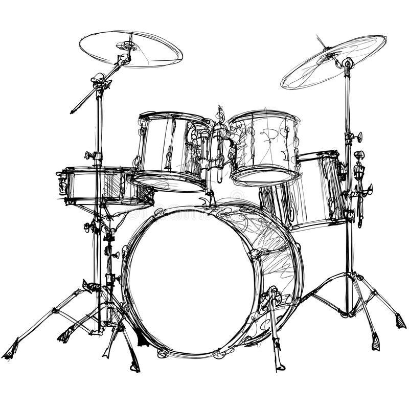 Drum Kit Vector Illustration Of A Drum Kit Sponsored Affiliate Ad Kit Illustration Vector Drum Drums Art Drum Drawing Drum Tattoo