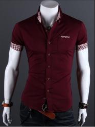 9abd54b712 CAMISA SOCIAL MANGA CURTA   clothing fashion   Camisa social ...