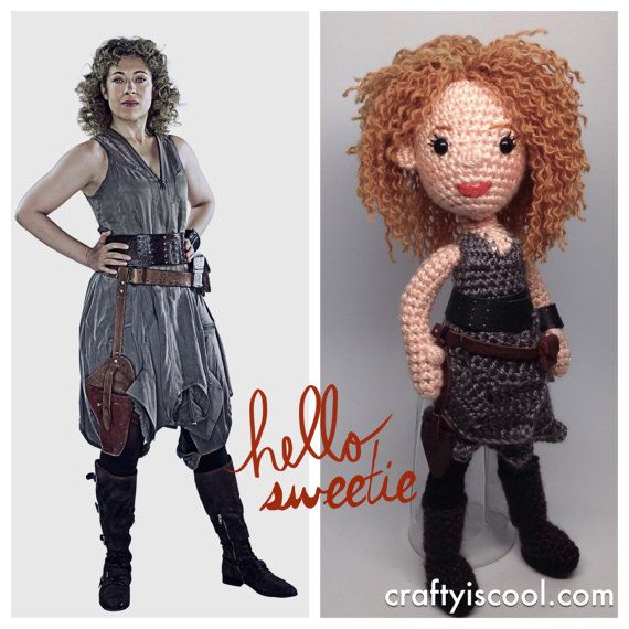River Song Doctor Who Companion Amigurumi by craftyiscoolcrochet