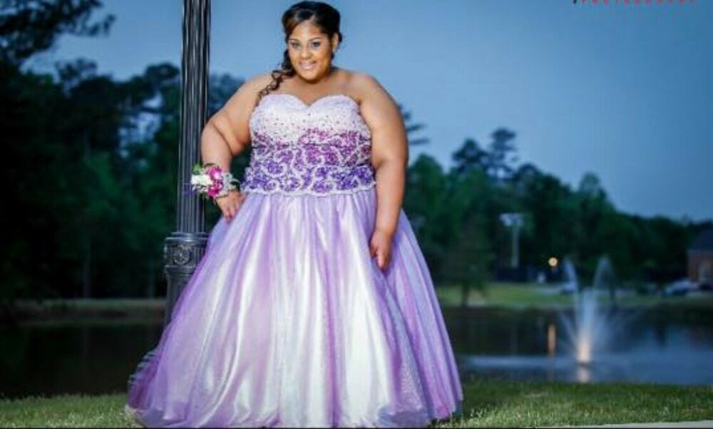 Purple Plus Size Ball Gown Used Fashion Clothing Shoes