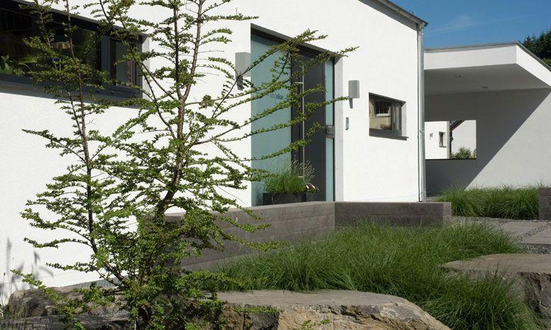 Grau-anthrazit gemasert Vorgarten   Eingangsbereich Pinterest - moderner garten mit grasern