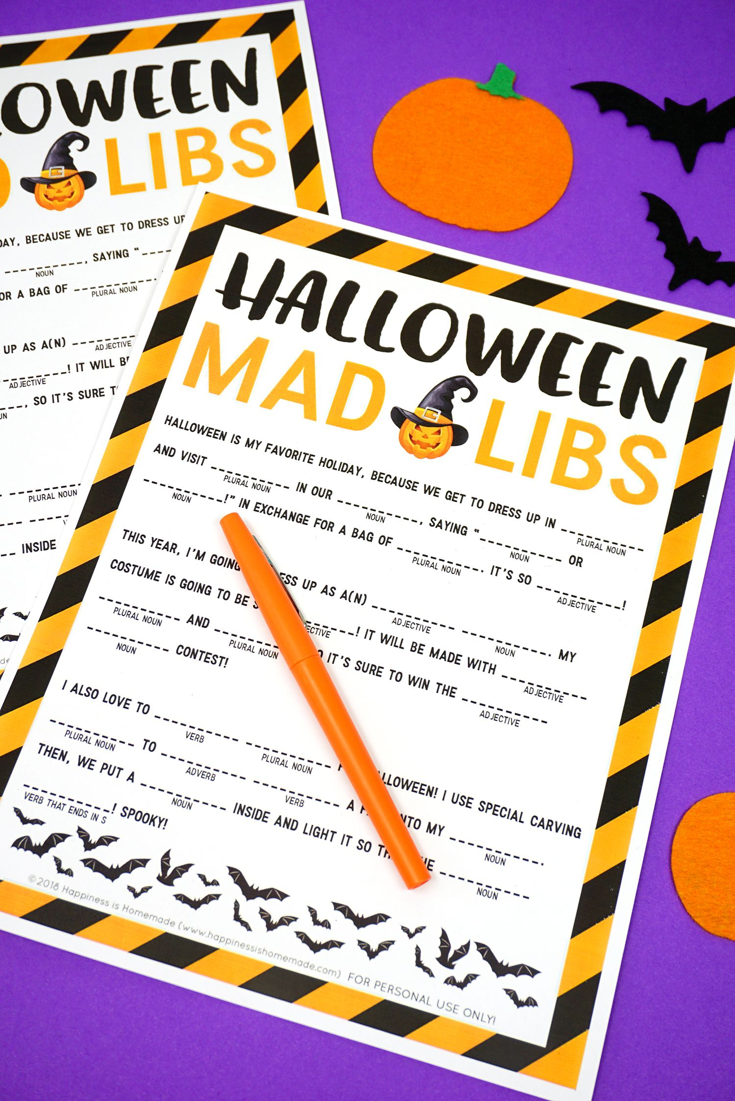Halloween Mad Libs Printable With Images