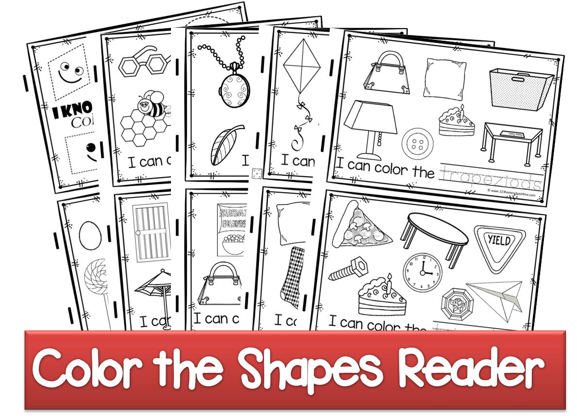 Free Color The Shapes Reader