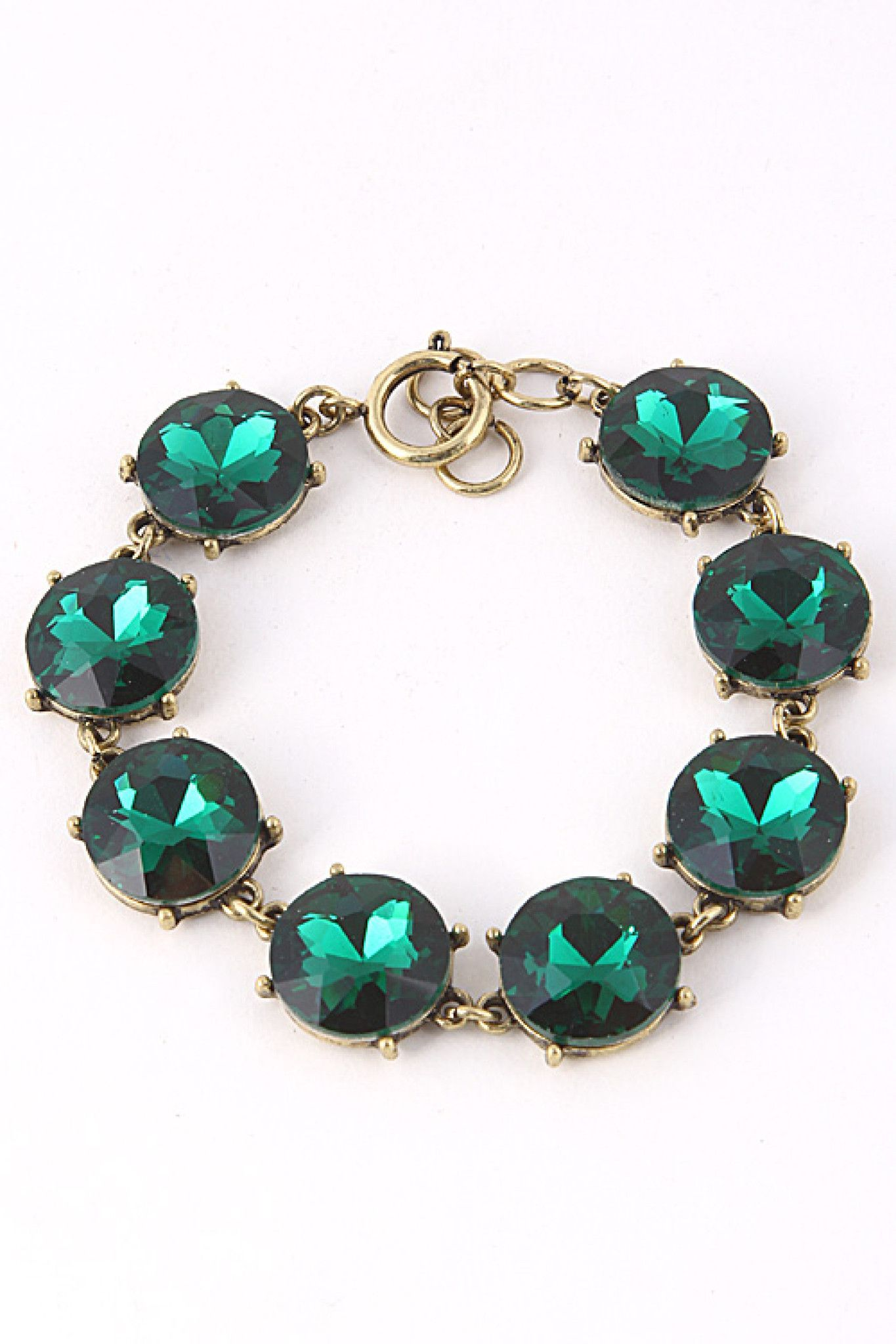 Crystal Link Bracelet in Multi Colors Bracelets Minis and Jewelry