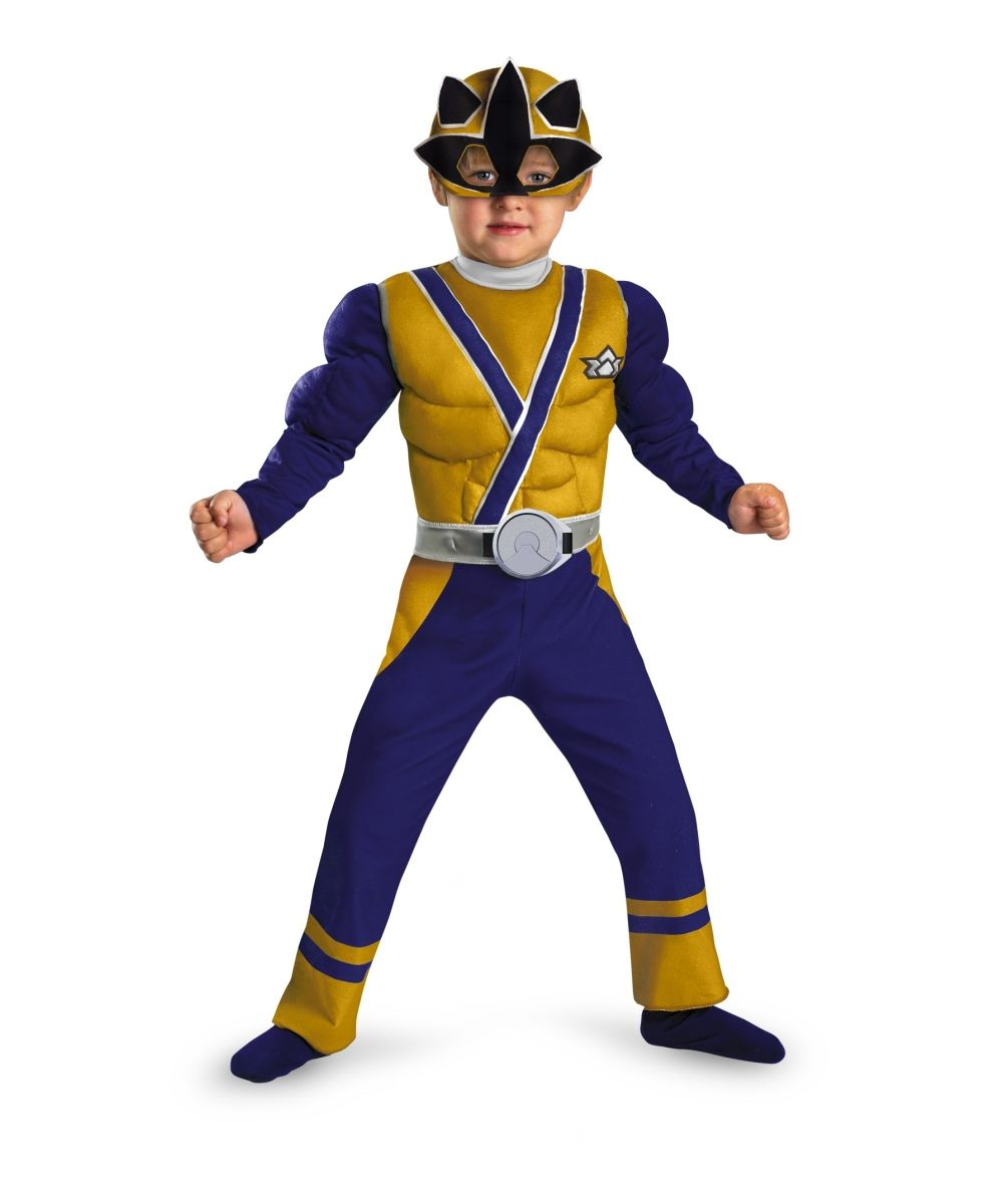 Power Ranger Samurai Gold Ranger Muscle Toddler Boys Costume ...