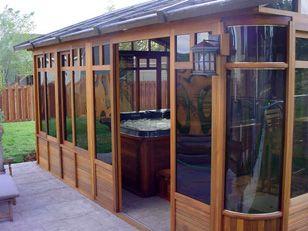 hot tub gazebos spa enclosures hot tubs swim spas - Hot Tub Enclosures