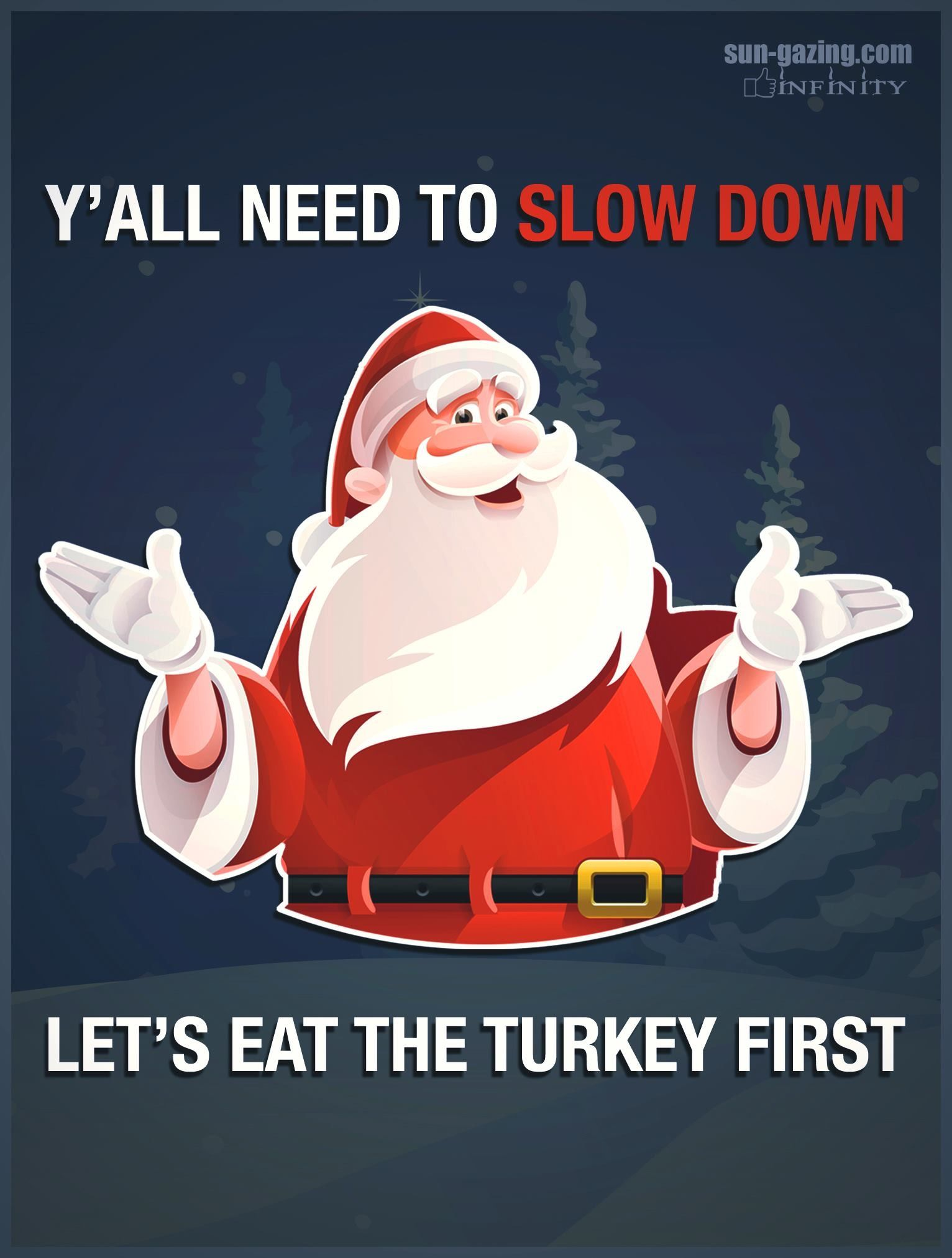 turkey thanksgiving funny christmas santa (With