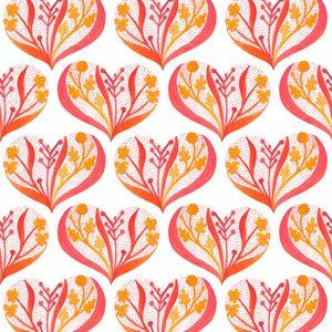 Gennine D. Zlatkis - Alegria - Hearts in Pink - Organic Cotton