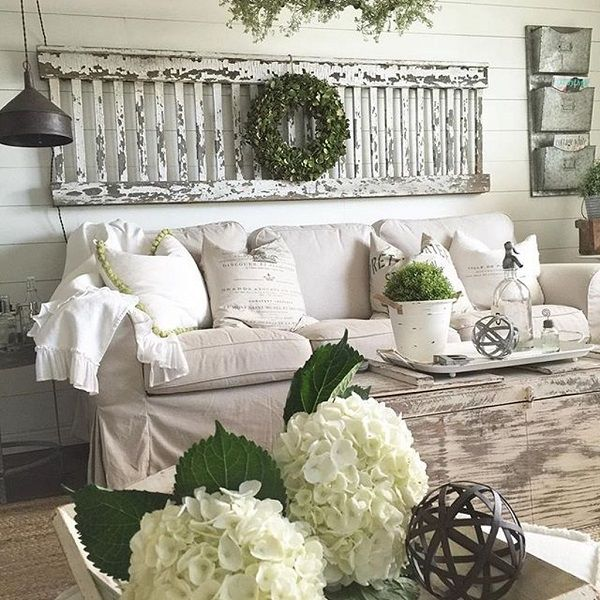 Como decorar un living estilo shabby chic idomum - Decorar estilo shabby chic ...