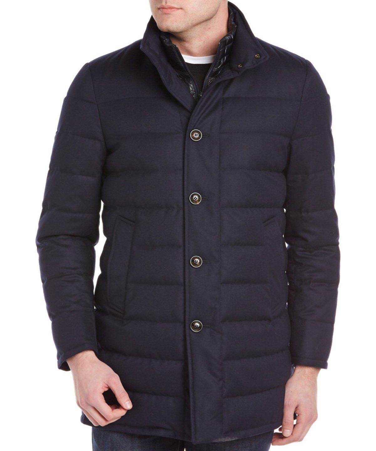 9c496ddbd MONCLER Moncler Vallier Quilted Wool Down Topcoat'. #moncler #cloth ...