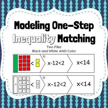 Modeling Inequality Match One Step Equations Algebra Algebraic Expressions Worksheet Algebra tiles worksheets 6th grade