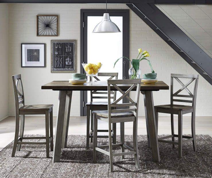 Fairhaven Pub Table Barstool Set Standard Furniture Wood