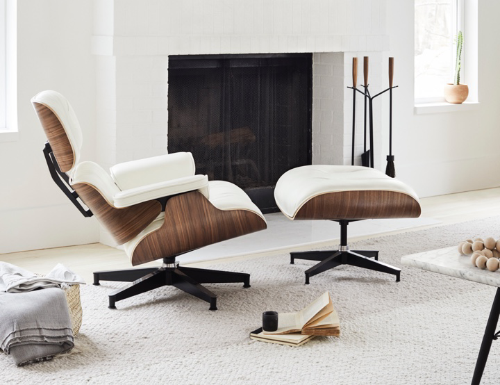 Eames Lounge Chair And Ottoman Eames Lounge Chair Living Room Lounge Chairs Living Room Eames Lounge Chair White