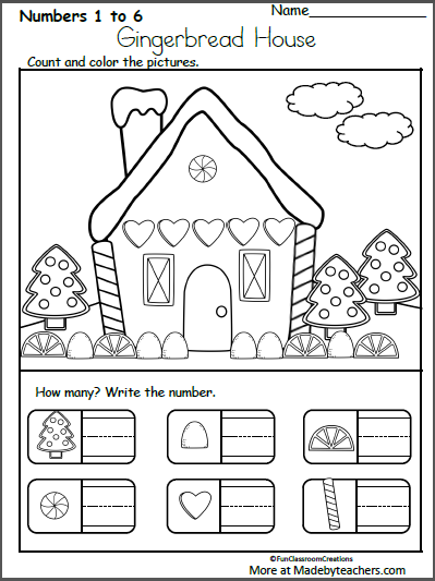 Free December Christmas Worksheets For Kindergarten Writing Numbers Madebyteachers Christmas Worksheets Kindergarten Christmas Kindergarten Christmas Worksheets