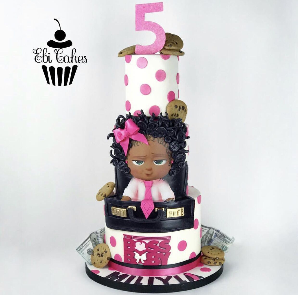 Pink Boss Baby Girl Cake In 2020 Boss Baby Baby Girl