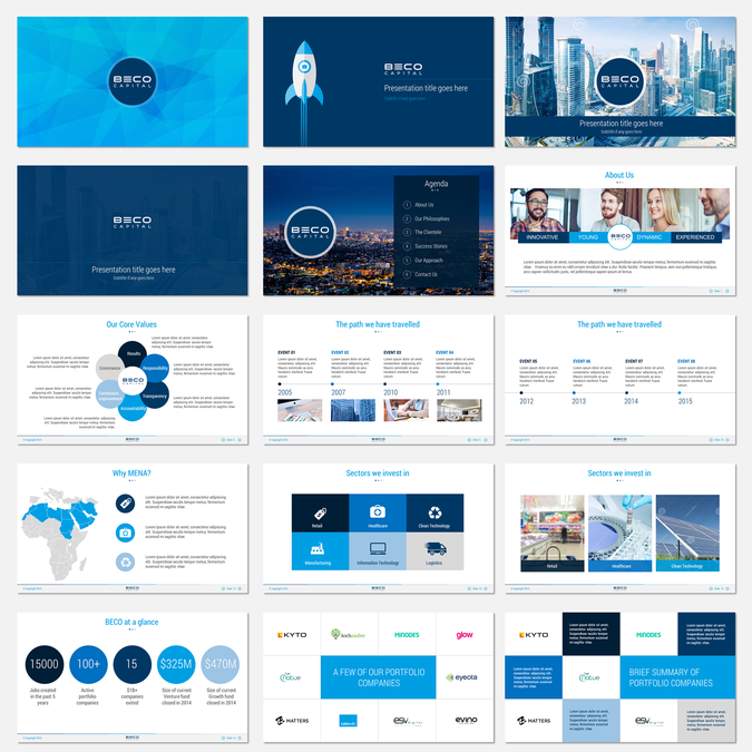 Create A PowerPoint Presentation Template For A Venture Capital - Venture capital website template