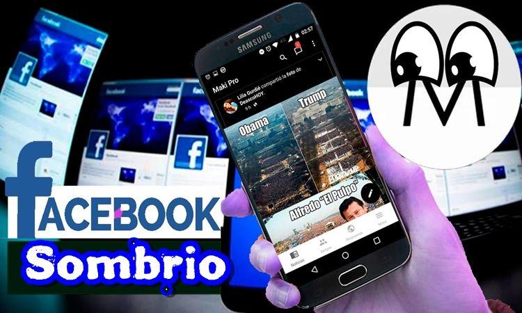 FACEBOOK Modo SOMBRIO Super lite para Android Sombrio
