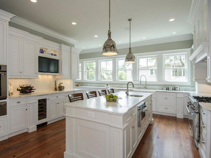 Best Cabinets Kitchen Colours With White Grey Colors Green Wall 640 x 480