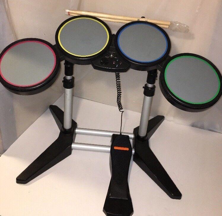 Playstation 2 3 Ps2 Ps3 Rock Band Harmonix 822148 Drum Set W