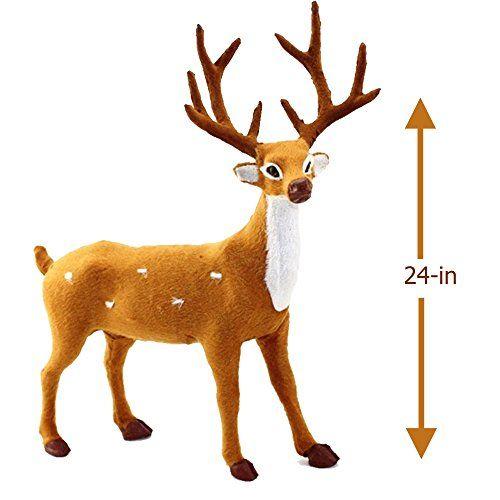 Sims 3 Seasons Christmas Tree: Reindeer Figure Holiday Decor Plush Christmas Reindeer