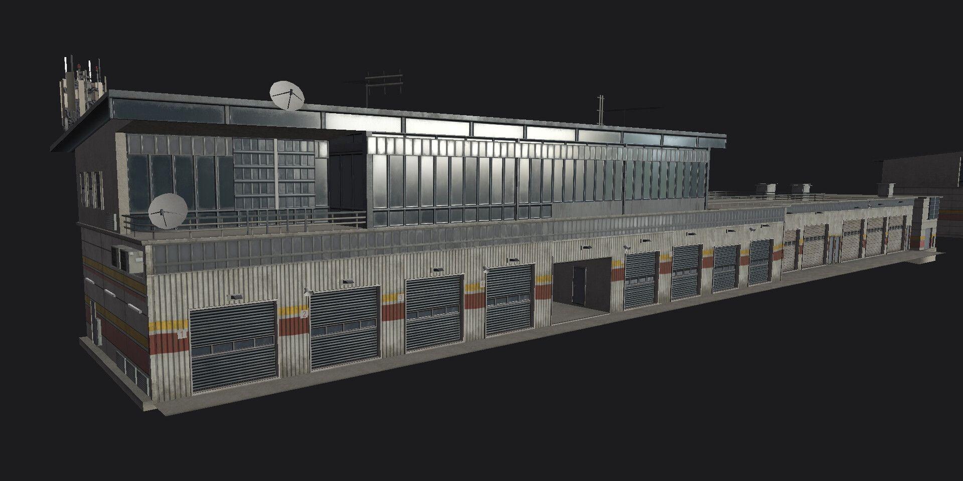 Grid 2019 Pit Garage By Ahmad Azizian Asset That I Did For Grid
