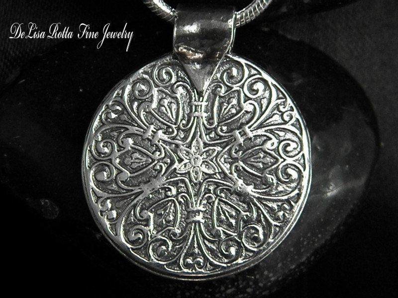 Super #Sale, Last One, Silver Recycled, Mandala, #Pendant, #Necklace,  View more on the LINK: 	http://www.zeppy.io/product/gb/3/92077492/