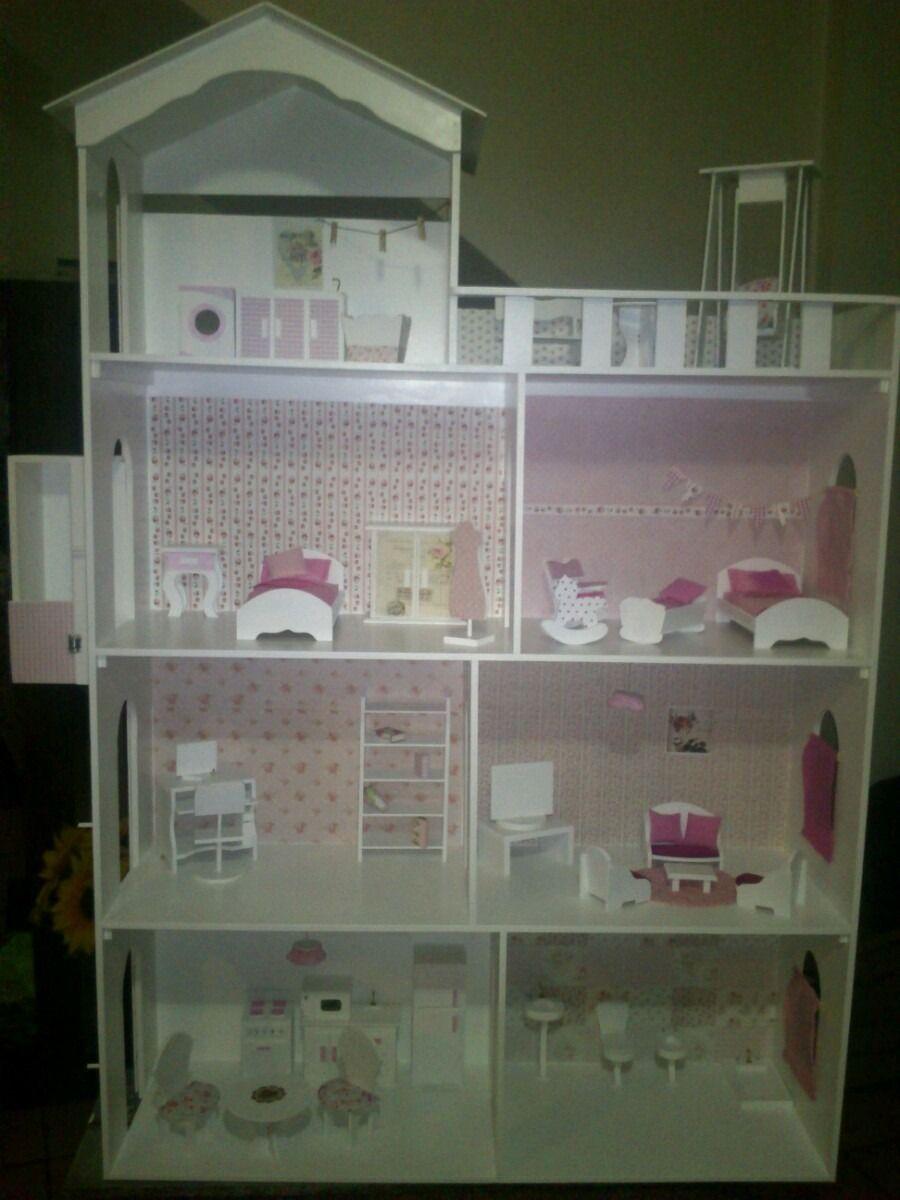 Casita De Muñecas Barbie.superxxl*4 Pisos*con Ascensor!1,50m | Casa ...